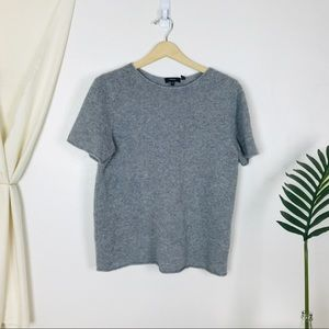 Theory Cashmere Scoop Neck Short Sleeve Pullover